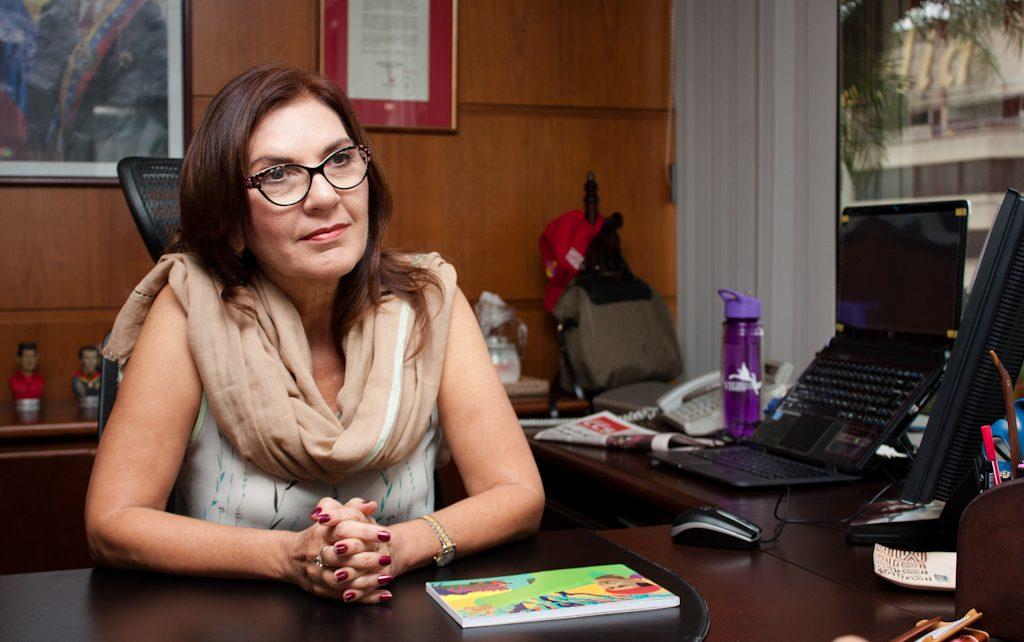 Jacqueline Faría, presidenta de la operadora móvil del Estado venezolano