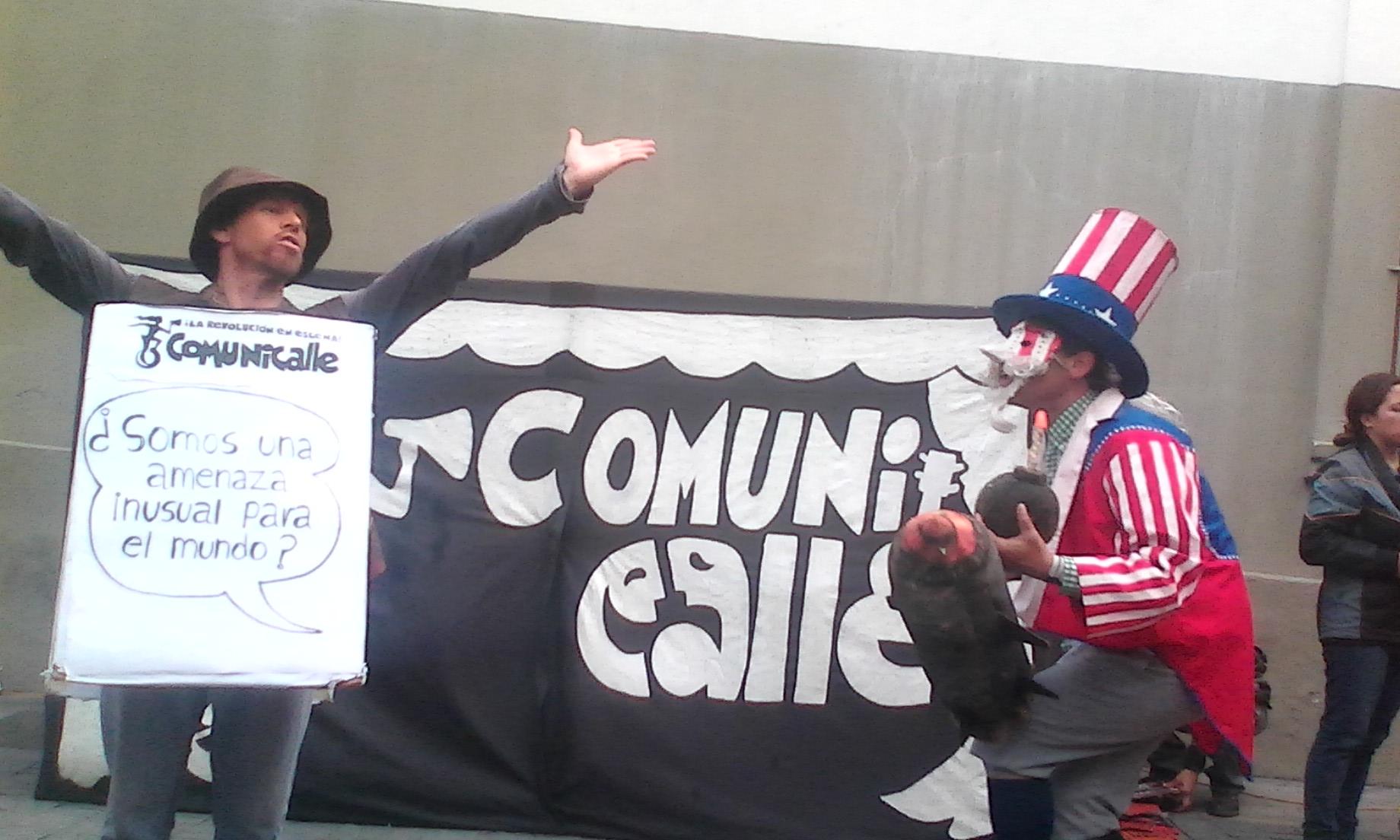 Ruben Joya, de Aragua, en su acción comunicacional.