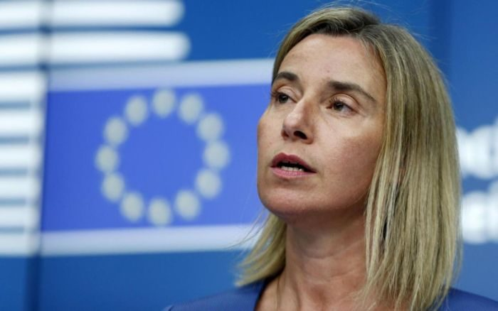 European Union foreign policy chief Federica Mogherini addresses a news conference during a European Union foreign ministers meeting in Brussels, Belgium, July 20, 2015. REUTERS/Francois Lenoir