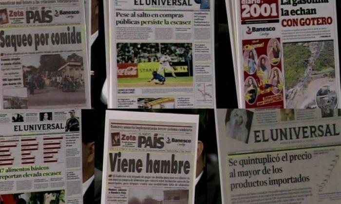 Leyenda: Los titulares de los medios impresos fue permanente el año 2001. (Cortesía: Misión Verdad)