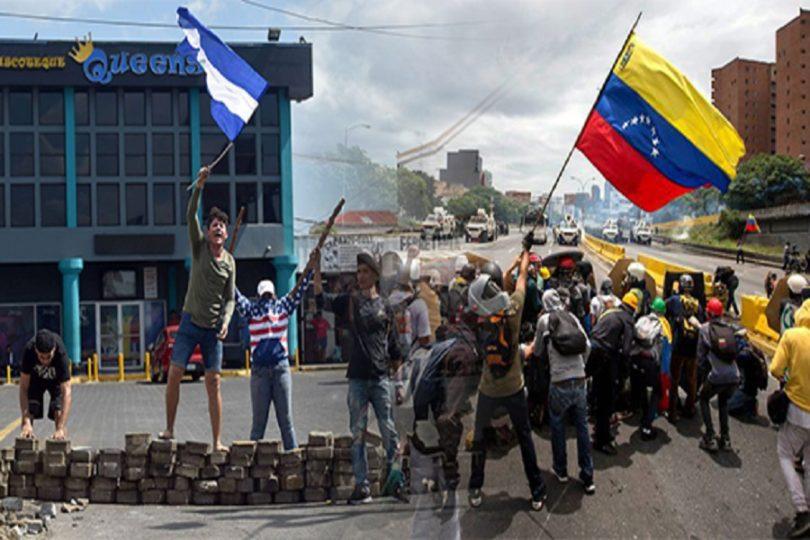 nicaragua-venezuela-banderas-guarimbas-protestas-violentas
