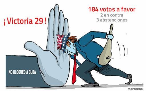 Votación en la ONU contra el bloqueo a cuba